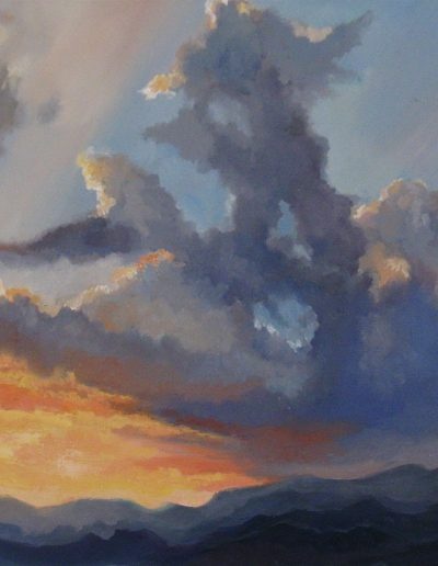 Sunset, 46x55cm, Oil on canvas, Sold