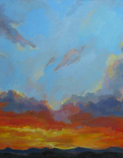 Rhodopean skies, 46x55cm, Oil on canvas, Sold