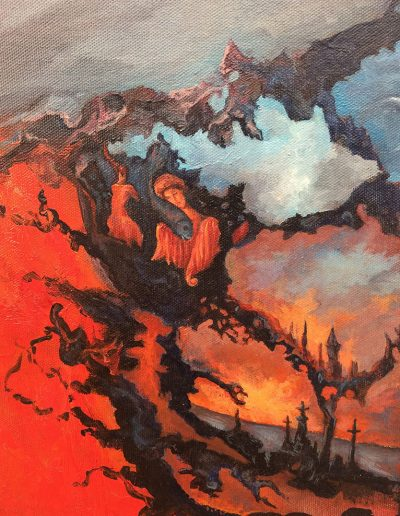 Diana Savova, Past Paintings, Flames of the hell (Detail)