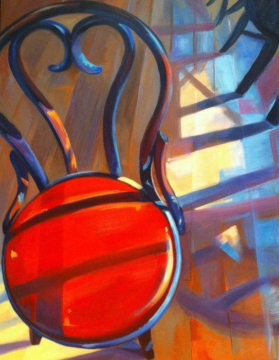 Highland chair, 60x80cm, acrylic on canvas