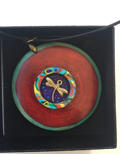 Hand painted heckles jewelry, materials- wood, acrylic paint,Price £26